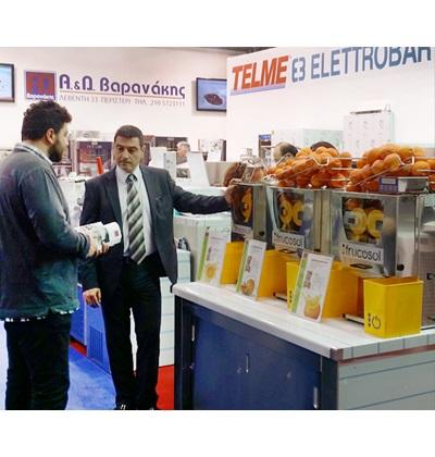 Επαγγελματικοί στίφτες πορτοκαλιών FRUCOSOL GREECE, έκθεση FOODEXPO
