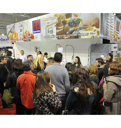 Exhibition ARTOZA GREECE bakery-pastry equipment, RIBOT live cooking show